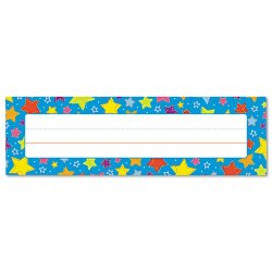 Carson-Dellosa - 122013 - Carson-Dellosa PreK-Grade 5 Student Nameplates - Learning Theme/Subject - 36 (Star) Shape - 0.31 Height x 2.88 Width x 9.50 Length - Multicolor - 36 / Pack