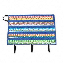 Carson-Dellosa - CD5652 - Carson-Dellosa Border Storage Pocket Chart Bag - 38 Width x 25 Length - Blue - 1Each