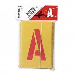 Chartpak - 01565 - Painting Stencil Set, A-Z Set/0-9, Manila, 35/Set