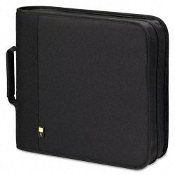 Case Logic - BNB-208-BLACK - Case Logic BNB-208 Optical Disc Case - Binder - Nylon - Black - 208 CD/DVD
