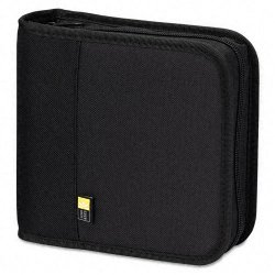 Case Logic - BNB24 - Case Logic BNB-24 CD/DVD Binder - Nylon - Black - 24 CD/DVD