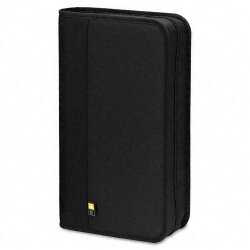 Case Logic - BNB-48-BLACK - Case Logic BNB-48 Optical Disc Case - Binder - Nylon - Black - 48 CD/DVD