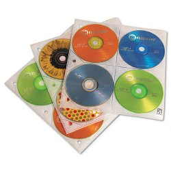 Case Logic - CDP-200 - Case Logic 200 Capacity CD Album Refill Pages - Slide Insert - Plastic - Clear