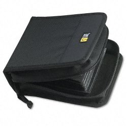 Case Logic - CDW-32BLACK - Case Logic 32 Capacity CD Wallet - Wallet - Book Fold - Nylon - Black - 32 CD/DVD