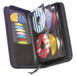 Case Logic - CDW64 - Case Logic 64 Capacity CD Wallet - Book Fold - Nylon - Black - 64 CD/DVD