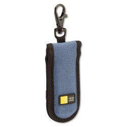 Case Logic - JDS-2 BLUE/BLACK - Case Logic 2 Capacity USB Drive Shuttle - Clamshell - Clip - Neoprene - Black, Blue