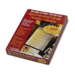 C-Line - 03213 - C-Line Traditional Polypropylene Sheet Protector - Letter 8.50 x 11 - Polypropylene - 100 / Box - Clear