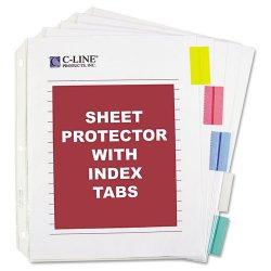 C-Line - 05550 - C-Line Top Loading Sheet Protector - Letter 8.50 x 11 - Polypropylene - 5 / Set - Assorted