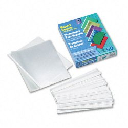 C-Line - 32457 - C-Line Economy Report Cover with Binding Bars - Letter - 8.50 Width x 11 Length Sheet Size - 20 Sheet Capacity - Vinyl - Clear - 50 / Box