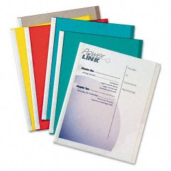 C-Line - 32550 - C-Line Report Cover with Backbone - Letter - 8.50 Width x 11 Length Sheet Size - 20 Sheet Capacity - Vinyl - Assorted - 50 / Box
