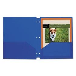 C-Line - 32935 - C-Line Products Two-Pocket Heavyweight Poly Portfolio Folder with Three-Hole Punch, Blue, 25/BX - Letter - 8 1/2 x 11 Sheet Size - 2 Pocket(s) - Polypropylene - Blue - 25 / Box