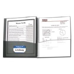 C-Line - 33081 - C-Line 8-Pocket Spiral-Bound Poly Portfolio, Smoke, 1/EA, 33081 - Letter - 8.50 Width x 11 Length Sheet Size - 8 Pockets - Polypropylene - Smoke, Clear - 1 / Each
