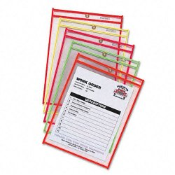 C-Line - 43910 - C-Line Shop Ticket Holder - 9 Width x 12 Length Sheet Size - Assorted - 25 / Box