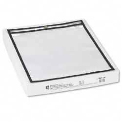 C-Line - 46114 - C-Line Stitched Plastic Shop Ticket Holder - 11 Width x 14 Length Sheet Size - Clear - 25 / Box