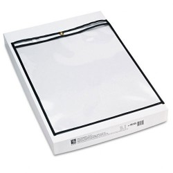 C-Line - 46125 - C-Line Products Shop Ticket Holders, Stitched, Both Sides Clear, 12 x 15, 25/BX - Vinyl - 25 - Clear