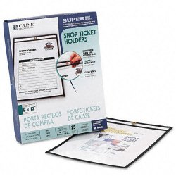 C-Line - 46912 - C-Line Stitched Plastic Shop Ticket Holder - 9 Width x 12 Length Sheet Size - Clear - 25 / Box