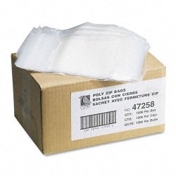 C-Line - 47258 - C-Line Write-On Small Parts Bags - 8 x 5 - Poly - 1000 / Box