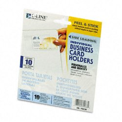 C-Line - 70238 - C-Line Side Load Business Card Holder - 2 x 3.5 - Poly - 10 / Pack - Clear