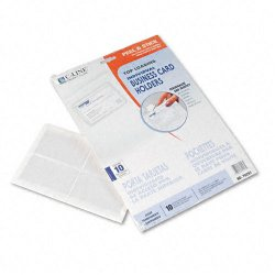 C-Line - 70257 - C-Line 70257 Top Load Business Card Holder - 3.5 x 2 - Poly - 10 / Pack - Clear