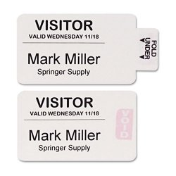C-Line - 97017 - Time s Up. One-Part Self-Expiring Security Badges, 4 x 2, White, 250/Box