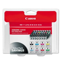 Canon - 0620B015 - Canon CLI-8 Color Ink Cartridge - Inkjet - Black, Cyan, Magenta, Yellow, Photo Cyan, Photo Magenta, Red, Green