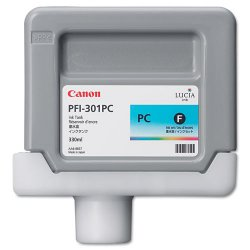 Canon - 1490B001 - Canon Photo Cyan Ink Tank For imagePROGRAF iPF9000 Printer - Inkjet - Photo Cyan