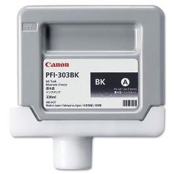 Canon - 2958B001 - Canon PFI-303 BK Black Ink Cartridge - Inkjet - Black - 1