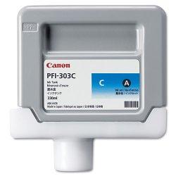 Canon - 2959B001AA - Canon PFI-303C Ink Cartridge - Cyan - Inkjet - 1