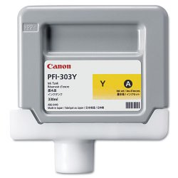 Canon - 2961B001AA - Canon PFI-303Y Original Ink Cartridge - Inkjet - Yellow - 1 Each