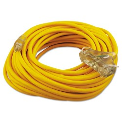 Coleman Cable - 172-03489 - Polar/Solar Outdoor Extension Cord, 100ft, Three-Outlets, Yellow