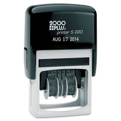 Consolidated Stamp - 010129 - Economy Dater, Self-Inking, Black