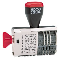 Consolidated Stamp - 010180 - Dial-N-Stamp, 12 Phrases, 1 1/2 x 1/8