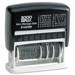 Consolidated Stamp - 011090 - Micro Message Dater, Self-Inking