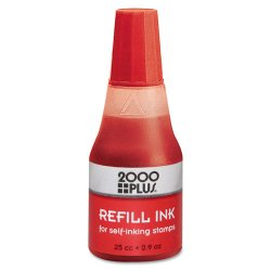Consolidated Stamp - 032960 - Self-Inking Refill Ink, Red, 0.9 oz. Bottle