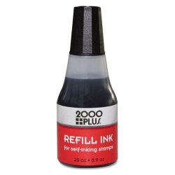 Consolidated Stamp - 032962 - Self-Inking Refill Ink, Black, 0.9 oz. Bottle