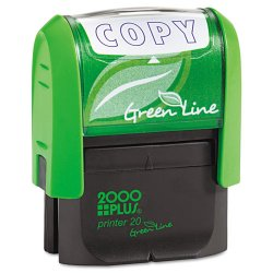 "Consolidated Stamp - 035347 - Consolidated Stamp Cosco Green Line COPY Self-inking Stamp - Message Stamp - ""COPY"" - 5000 Impression(s) - Blue - Recycled - 1 Each"