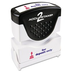"Consolidated Stamp - 035523 - Consolidated Stamp Cosco Pre-inked For Deposit Only Message Stamp - Message Stamp - ""FOR DEPOSIT ONLY"" - 50000 Impression(s) - Red, Blue - Rubber Grip - 1 Each"