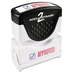 "Consolidated Stamp - 035525 - Consolidated Stamp Cosco 2-color APPROVED Message Stamp - Message Stamp - ""APPROVED"" - Red, Blue - Rubber Grip - 1 Each"