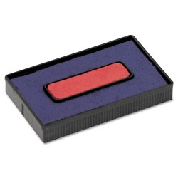 Consolidated Stamp - 061797 - Felt Replacement Ink Pad for 2000PLUS Economy Message Dater, Red/Blue