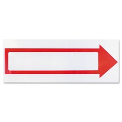 Consolidated Stamp - 098056 - Stake Sign, 6 x 17, Blank White with Printed Red Arrow