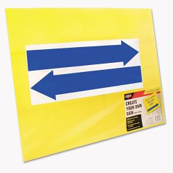 Consolidated Stamp - 098227 - Stake Sign, Blank, Yellow, Includes Directional Arrows, 15 x 19