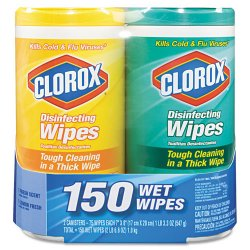 Clorox - 01599CT - Clorox Disinfecting Wipes Value Pack - Wipe - Citrus Blend, Fresh Scent - 75 / Canister - 12 / Carton
