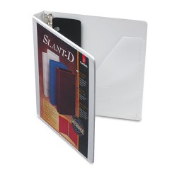 Cardinal Brands - 10200 - SuperStrength ClearVue Locking Slant-D Ring Binder, 1 Cap, 11 x 8 1/2, White