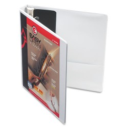 Cardinal Brands - 10300 - Easy-Open ClearVue Locking Slant-D Binder, 1 Cap, 11 x 8 1/2, White