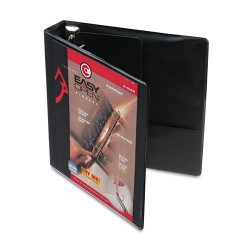 Cardinal Brands - 10311 - Easy-Open ClearVue Locking Slant-D Binder, 1.5 Cap, 11 x 8 1/2, Black