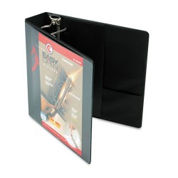 Cardinal Brands - 10321 - Easy-Open ClearVue Locking Slant-D Binder, 2 Cap, 11 x 8 1/2, Black