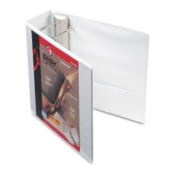 Cardinal Brands - 10340 - Easy-Open ClearVue Locking Slant-D Binder, 4 Cap, 11 x 8 1/2, White