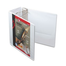 Cardinal Brands - 10350 - Easy-Open ClearVue Locking Slant-D Binder, 5 Cap, 11 x 8 1/2, White