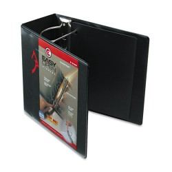 Cardinal Brands - 10351 - Easy-Open ClearVue Locking Slant-D Binder, 5 Cap, 11 x 8 1/2, Black