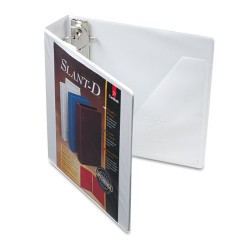 Cardinal Brands - 10500 - SuperStrength ClearVue Locking Slant-D Ring Binder, 2 Cap, 11 x 8 1/2, White